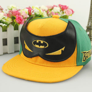 Cartoon Anime Super Hero Batman Mask Baseball Caps For Children Boy Adjustable Hip Hop Hats Sun Hat Outdoor Shade Cap BATMAN