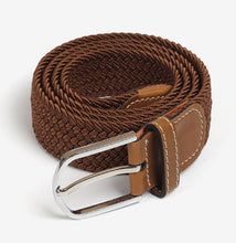 Load image into Gallery viewer, Casual Unisex Elastic Knitted Canvas Belts 2020 Women Decoration Solid Fashion Pin Buckle Belts Men's Chic Canvas Strap Belts