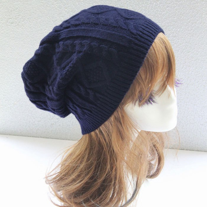Cheap 2020 Women thick Caps Twi Pattern Women Knitted Sweater Hats pom poms winter hat cotton beanies cap female