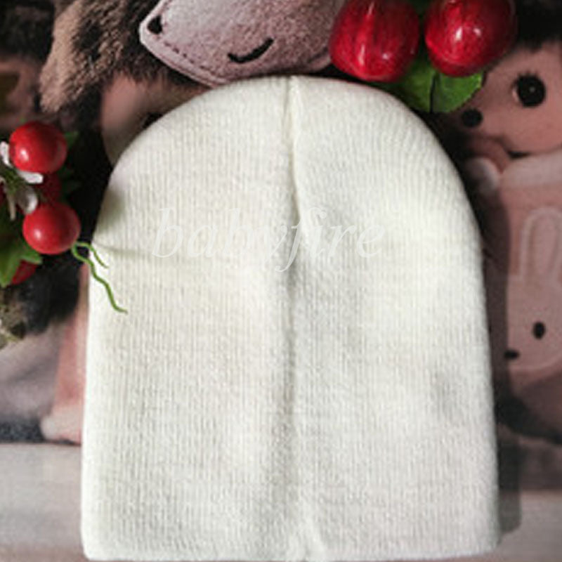 Cheap Attractive Kid Plain Skull Cap Beanie Candy Solid Color Knit Wo Crochet Slouch Hat