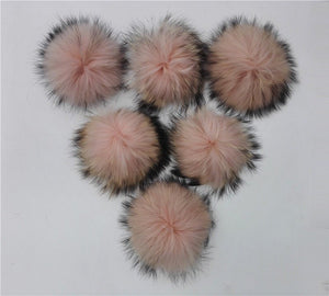 Cheap Price Raccoon Fur Pom pom ball For Women's Knitted Fur Hats Winter Beanies Caps Bone Gorras And Bags Garments Accessories