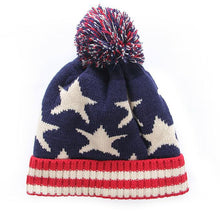 Load image into Gallery viewer, Cheap u american flag Beanie hat wo winter warm knitted caps and hats for man and women Skullies co Beanies wholesale