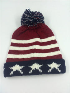 Cheap u american flag Beanie hat wo winter warm knitted caps and hats for man and women Skullies co Beanies wholesale