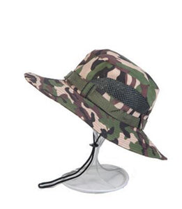 Sun Shade Hat Men Panama Bucket Hat Breathable Boonie Multicam Climbing  Camouflage Hats Outdoor Fishing Wide adecabe887e