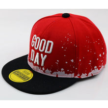 Load image into Gallery viewer, Children 3D Embroidery Letters Flat Bill Snap back Hat Boys Girls Fashion Hip Hop Baseball Caps Blue White Red Black