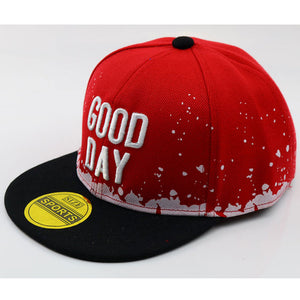 Children 3D Embroidery Letters Flat Bill Snap back Hat Boys Girls Fashion Hip Hop Baseball Caps Blue White Red Black