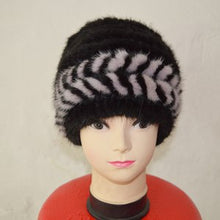 Load image into Gallery viewer, China Air Mail Free Shipping SJ922-05 Brown Color Lovely Cheap Female Mink Fur Hats for Girl