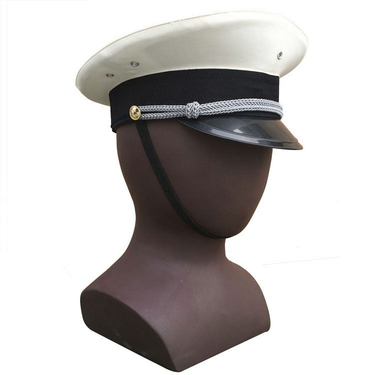 Chinese Army Type 87 Navy Large Brimmed Hat White Cap (Size 60.5 cm) CN/401222