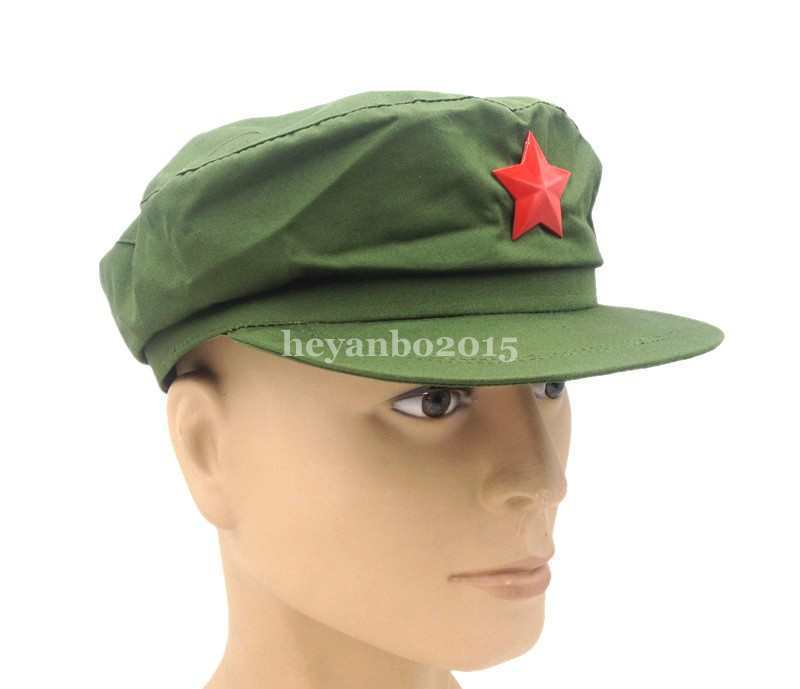 Chinese PLA Army Type 65 Military Cap Hat With Red Star Badge IN SIZES  - World military Store