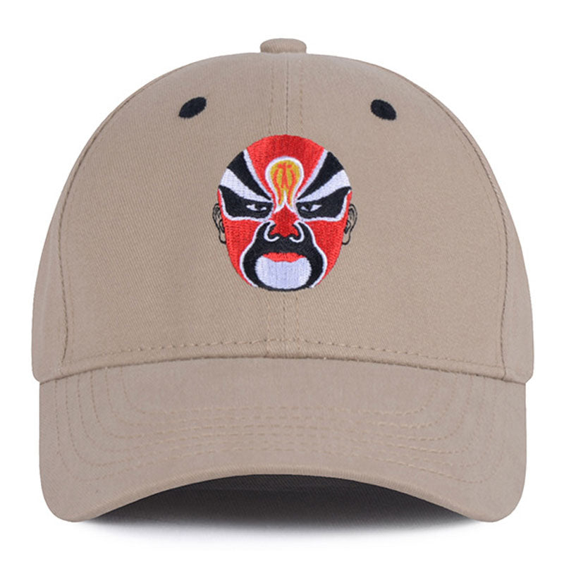 Chinese Style Embroidery Baseball Cap Men Women Wide Brim Curved Snapback Dad Hats Black Khaki