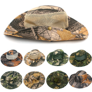Classic US Combat Army Style Jungle Hat Sun Fishing Cap Men Women's  Camouflage Military UV Protection Bucket Hat Fisherman Hat