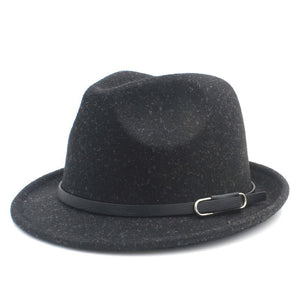 Classico100% Wo Women Men Fedora Hat For Winter Autumn Elegant Lady Gangster Trilby Felt Hombu Church Jazz Hat Size 56-58CM