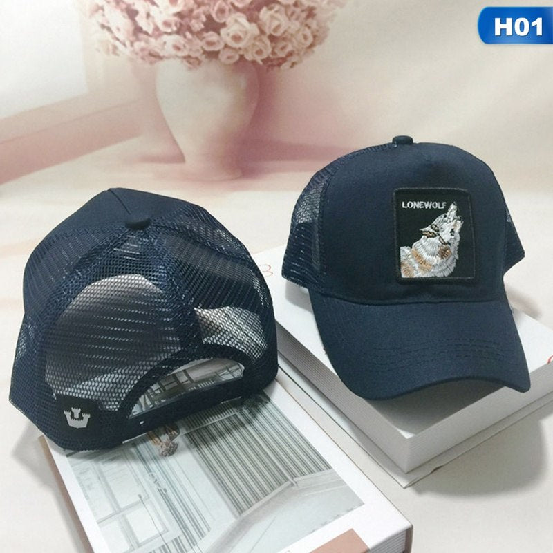 Cock Animal Embroidery Baseball Cap Men Women Snapback Caps Breathable Mesh Hip Hop Hats Unisex Eat Chicken Bone Casquette