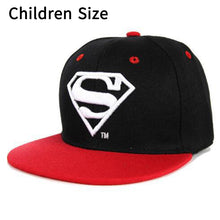 Load image into Gallery viewer, Cool!Superman Cartoon Snapback Caps Adult & Child Baseball Hat Bone For Boys Girls Hip Hop Caps Kids Summer Hats Fashion Sun Hat