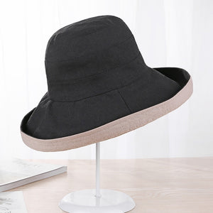 7c204e8d6bd Cotton Fashion Bucket Hats Solid Panama Summer Fishing Hat Female Caps Fine  grid hat UV Protection