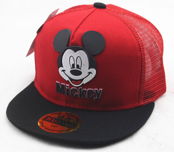 Cute Style Children Baseball Caps Spring Summer Autumn Ventilate Adjustable Baseball Hat Mouse Mickey Kids Hat Boys And Girls