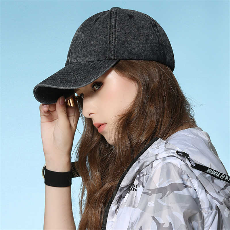 Women's Hat High quality Washed Cot Adjustable Solid color couple cap Fashion Snapback cap New Baseball Caps YG01
