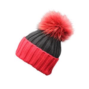 DOUDOULU Beauty Ball Cap Pom Poms Winter Hat For Women Crochet Hat Fur Wo Knit Beanie RaccoonKnitted Wo Beanie Ski #ZH