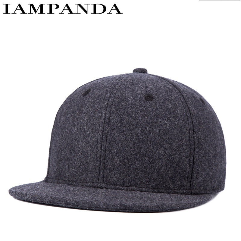 Dance Hall Customer 2016 Autu Winter New Pattern Keep Warm Hats Han Banchao Male Light Panel Solid Color Woolen Hip Hop Hat
