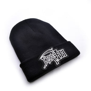 Death band Men's Skullies Winter Knitted Hat Male Beanies Cap Casual Solid Color Sets Headgear Hats For Men