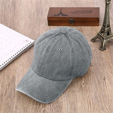 Load image into Gallery viewer, Denim Unisex Baseball Caps Good Quality Adjustable Polo Hats   Sale Grey Casquette Bone Cap Gorras