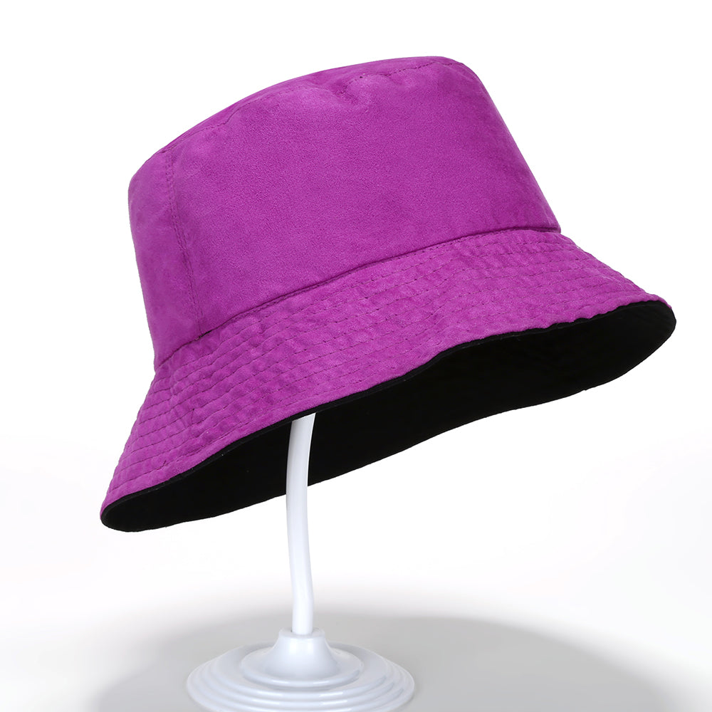 plain Solid bucket hats men reversible two sides can wear 100% cot women sun bob cap comfortable fisherman hat