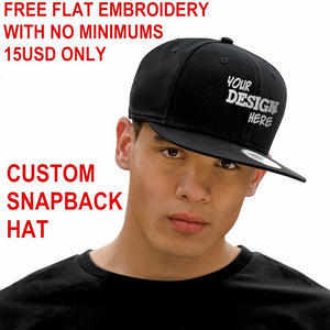 Custom Snapback Hat Acrylic Baseball Cap Flat Visor Embroidery 6 Panels Hats Adult Kids Personalized Gifts T Caps