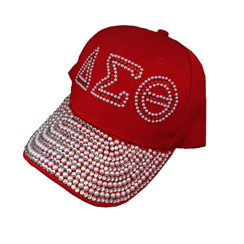Drop shopping  Sorority D  hat  letters style Glass denim cap custom baseball cap Hat rhinestone Delta Sigma Theta ha