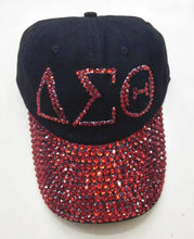 Load image into Gallery viewer, Drop shopping  Sorority D  hat  letters style Glass denim cap custom baseball cap Hat rhinestone Delta Sigma Theta ha