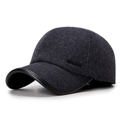 Brand New 2020 High Quality Baseball Cap Winter Hat Fashion Hats & Caps Men Thick warm earmuf Snapback Winter Cap