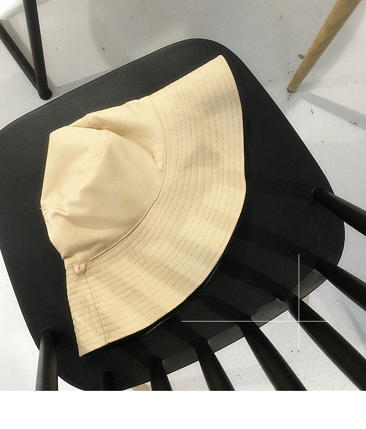 [EWQ] New Summer 2018 Fashion two-sided Wearing Solid Color Black  Fisherman Hat Woman Casual Wide Eaves Hat YA22801