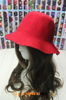 Elegant British Style Soft Wide Brim Pure Wo Felt Bowler Hat Fedora Dome Bucket Hat For Women Floppy Cloche chapeu feminino