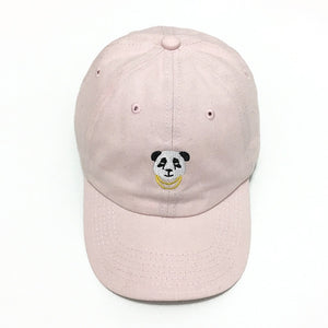 Emboridery Panda Gold Chains Baseball Cap Curved Dad Hat Men Women 100% Cotton Golf Snapback Cap Hats