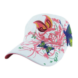Embroidered Baseball Cap Lady  Shopping Cycling Duck Tongue Hat women's floral pretty  outdoor tennis sports caps