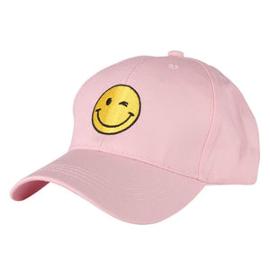Embroidered Smile Face Hip Hop Suede Cap Baseball Cap Blank Dad Hats For Men Women Snapback Trucker Hat Men Casquette