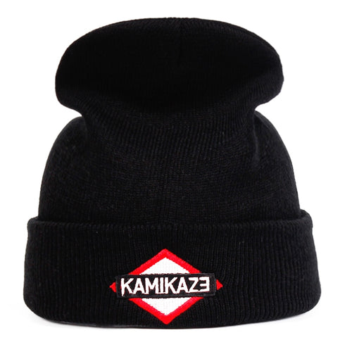 721923084d4 Eminem Latest Album Kamikaze Knitted Hat Hats Elastic Brand Embroidery  Beanie Warm Winter Skullies Skullies