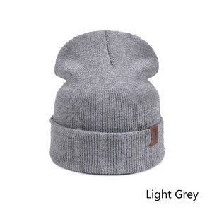 Brand Fashion Winter Skullies Beanies Knitted Wiomen Men Hats Solid Color Winter Beanies Hats Head Accessories
