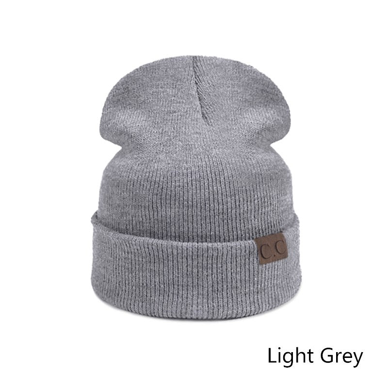 Fashion Brand Knitted Beanies Women Winter Hat Men Thick Cot Hats Unis –  oePPeo - Master of Caps   Hats fa49be82f8e8