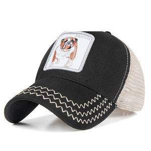 Evrfelan Fashion Mesh Baseball Cap Unisex Lovely Animals Caps Women&Men Snapback Cap Dad Hat Summer bone Adjustable gorras