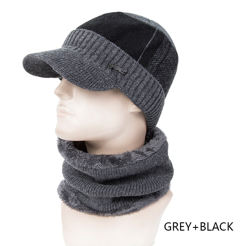 New Arrival Winter Hat Scarf Set 2 Piece For Men Thick Knitting Hat Wi –  oePPeo - Master of Caps   Hats f9a798e0680