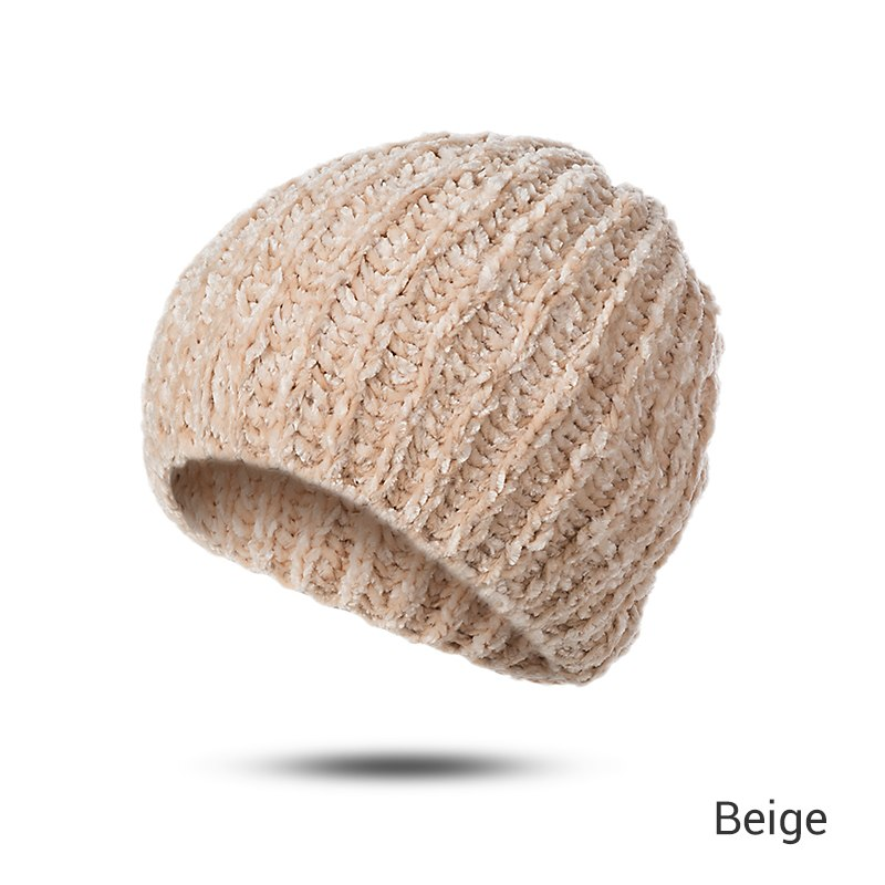 New Winter Hats Beanie Women Soft Warm Winter Hat Flexible Cotton Hats  Female Skullies Beanies Cheap Hat Dropshipping f74673ce3cb