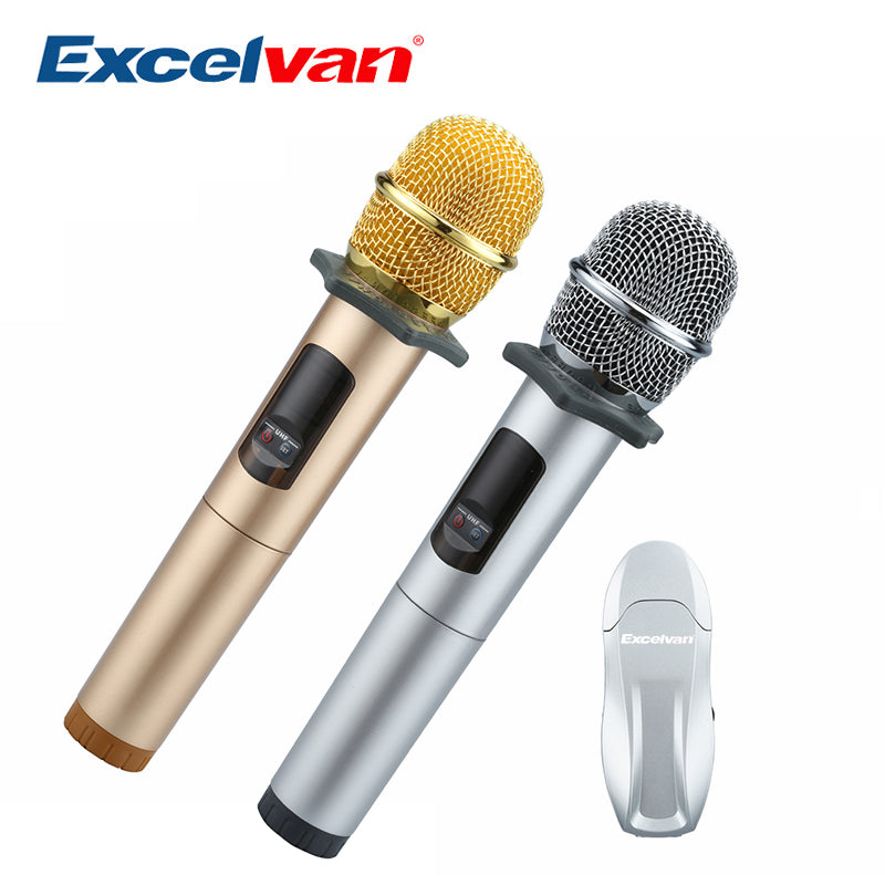 K18U Professional Bluetooth 2 Handheld Microphone UHF Wireless Lig weig with Receptor Various Frequency 10 Channel