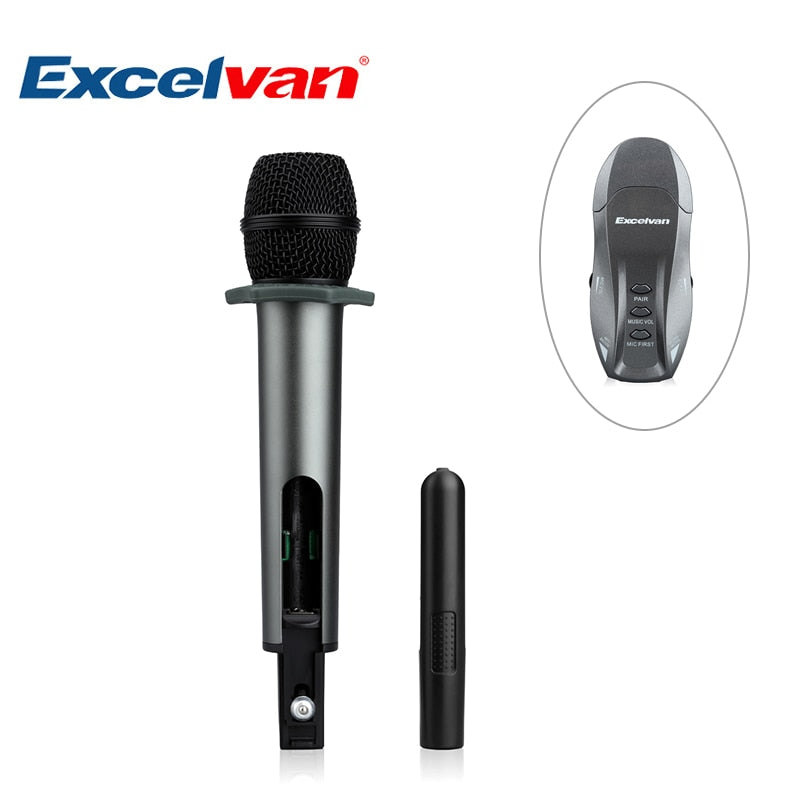 K18V Professional Bluetooth Wireless Microphone Supported USB Charging with Receptor for Bar KTV Party Updated K18