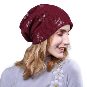 Women Autu winter Beanie Knit Ski Cap Hip-Hop Blank Color Winter Warm Hat  Cot bbd20fcff71