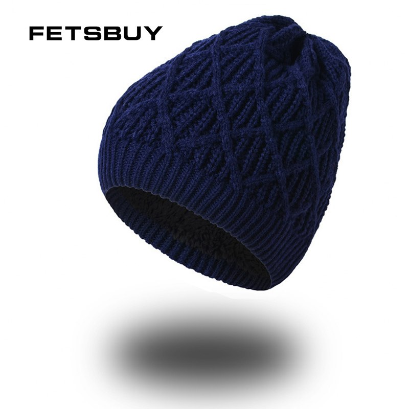 2020 Winter Beanie Mens Skullies Knitted Wo Stocking Hat Warm Casual Cap Bonnet For Men Outdoor Sport cap FK7831
