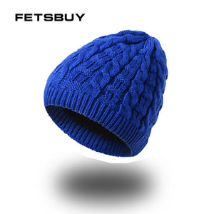 2018 Winter Beanie Mens Skullies Knitted Wo Stocking Hat Warm Casual Cap Bonnet Gorro Hants For Men Fashion FK7829