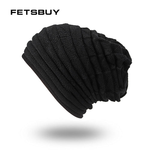 2018 Winter Hats For Men Skullies And Beanies Turban Hat Stocking Hat Baggy Male Mask Cap Bonne Beanies Bonnet FK7112312