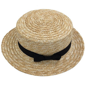 985a56bf Children Wide Brim Straw Hat Cute Kids Fedora Beach Sun Hat UPF50+ Floppy  Summer Boater Hat