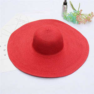 Elegant Women Straw Hat Packable Wide Brim Sun Hat Ladies Shade Floppy Kentucky Derby Hat Summer Beach Hat DIY Boater Cap