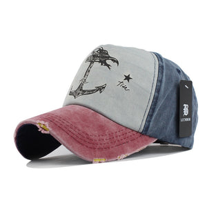 [FLB] 5 panel hip hop snapback hats couples hat Man Woman pure cot baseball caps do old pirate ship anchor gorras wash cap